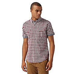 Red Herring - Red short sleeved square checked shirt