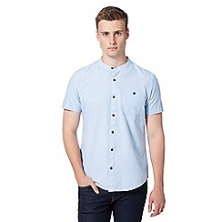 Red Herring - Light blue grandad collar shirt