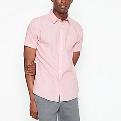 St George by Duffer - Pink and orange textured check shirt