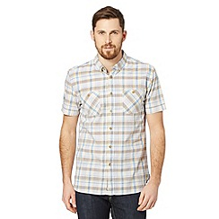 St George by Duffer - Yellow textured check shirt