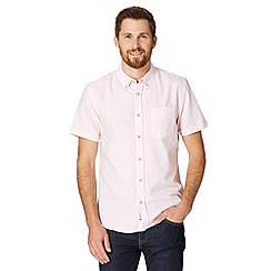St George by Duffer - Big and tall light pink oxford striped shirt