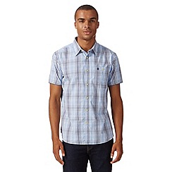 St George by Duffer - Big and tall blue gingham check shirt