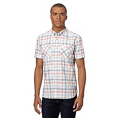 St George by Duffer - Red three colour checked shirt