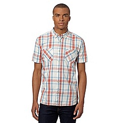 St George by Duffer - Big and tall big and tall orange grid checked shirt