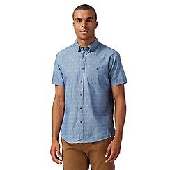 Red Herring - Blue anchor jacquard shirt