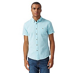 Red Herring - Turquoise short sleeved textured shirt