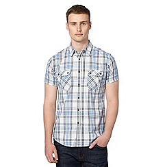 Red Herring - Big and tall blue checked utility shirt