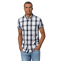 Red Herring - Yellow highlight checked button down short sleeve shirt