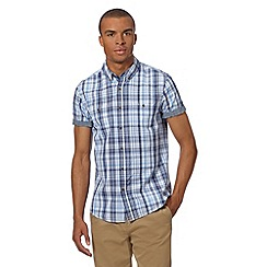 Red Herring - Light blue checked short sleeved shirt