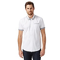 Red Herring - White short sleeved double collar shirt