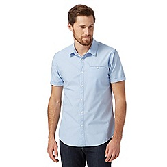 Red Herring - Light blue short sleeved mini jacquard shirt