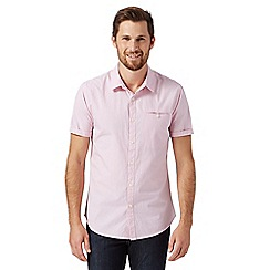 Red Herring - Pink short sleeved mini jacquard shirt