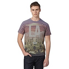 Red Herring - Grey 'LA' print t-shirt