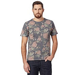Red Herring - Grey all over floral t-shirt