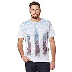 Red Herring - Big and tall white subway map t-shirt