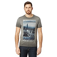 Red Herring - Dark grey 'Empire State' oil wash t-shirt