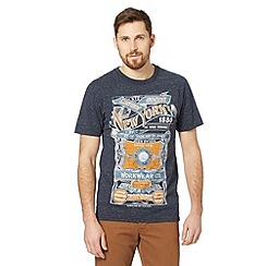 St George by Duffer - Blue neppy 'New York' t-shirt