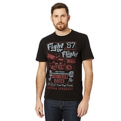 St George by Duffer - Black 'Fight or Flight' t-shirt