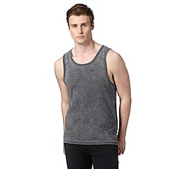 Red Herring - Grey plain burn out vest