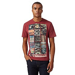 St George by Duffer - Dark red 'Mod music' t-shirt