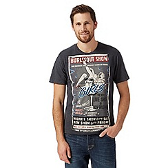 St George by Duffer - Big and tall dark grey 'Burlesque Show' t-shirt