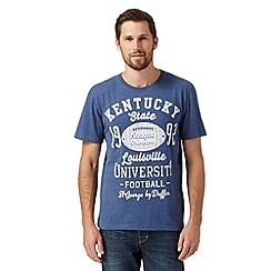 St George by Duffer - Big and tall dark blue 'Kentucky State' t-shirt