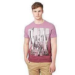 Red Herring - Purple 'Los Angeles' ombre t-shirt