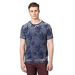Red Herring - Big and tall dark blue floral t-shirt