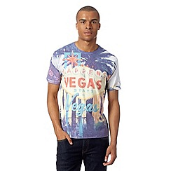 Red Herring - Big and tall white 'What happens in Vegas' t-shirt