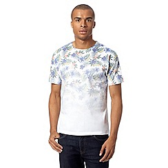 Red Herring - White fade down floral t-shirt