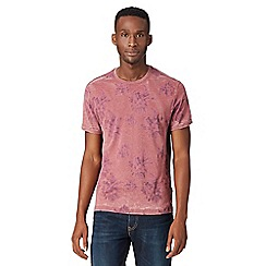 Red Herring - Red floral burnout t-shirt