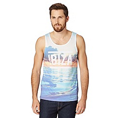 Red Herring - Blue 'Ibiza' sea print vest