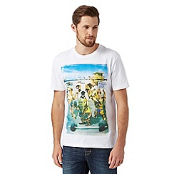 St George by Duffer - Big and tall white bulldogs workout print t-shirt