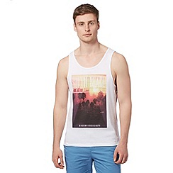 Red Herring - White 'South Beach' vest top