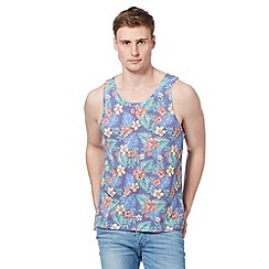 Red Herring - Blue tropical floral vest top