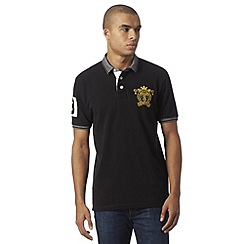 St George by Duffer - Black logo embroidered polo shirt