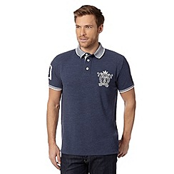 St George by Duffer - Blue crest logo pique polo shirt