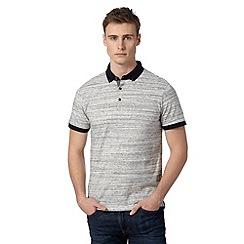 Red Herring - Light grey space dye polo shirt