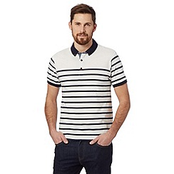 Red Herring - White striped jersey polo shirt