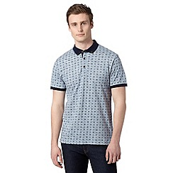 Red Herring - Light blue geometric floral polo shirt