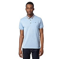 Red Herring - Light blue pique striped collar polo shirt
