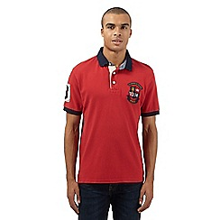 St George by Duffer - Big and tall red logo embroidered polo shirt