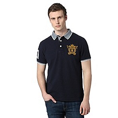 St George by Duffer - Navy birdseye collar polo shirt