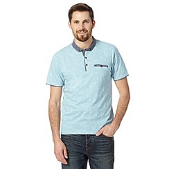Red Herring - Light turquoise striped penny collar polo shirt