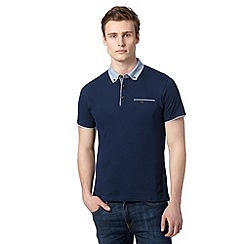Red Herring - Navy chambray chambray polo shirt