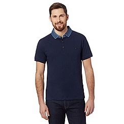 Red Herring - Navy denim collar polo shirt