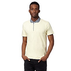 Red Herring - Light yellow geo penny collar polo shirt