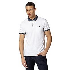 Red Herring - White printed collar polo shirt