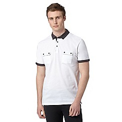 Red Herring - White contrast collar polo shirt
