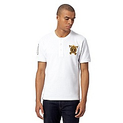 St George by Duffer - White crest logo pique t-shirt